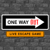 Logo ONE WAY OUT Live Escape Game